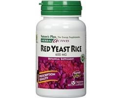 Nature's Plus, Red Yeast Rice 600 mg, Συμπλήρωμα Διατροφής από Μαγιά Κόκκινου Ρυζιού, Στηρίζει το Καρδιαγγειακό Σύστημα, Συμβάλει στον Έλεγχο της Χοληστερόλης & των Τριγλυκερίδιων 60 vcaps