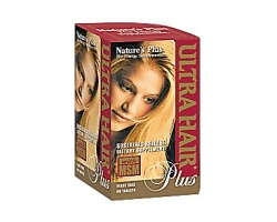 Nature's Plus, Ultra Hair Plus, Ισχυρή Φόρμουλα για τα Μαλλιά, Ενισχύει την Κερατίνη, Επιταχύνει την Ανάπτυξη της Τρίχας & την Κάνει Παχύτερη & Ισχυρότερη  60 tabs