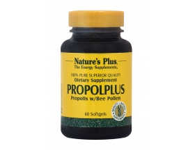 Nature's Plus, Propolplus,  100% Καθαρή Πρόπολη με Γύρη Μελισσών, σε Βάση από Έλαιο Ατρακτυλίδας, με Αντιβακτηριακές & Αντιφλεγμονώδεις Ιδιότητες 60 caps