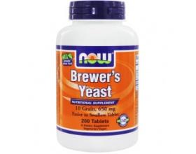 Now Foods Brewers Yeast 650 mg, 10 Grain (Vegetarian), Συμπλήρωμα από Μαγιά Μπύρας, Γενικό Τονωτικό του Οργανισμού για Όλες τις Ηλικίες, με Επολωτικές Ιδιότητες, 200 tabs