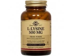 Solgar L-LYSINE 500mg,Η Λυσίνη είναι σημαντική για την ανάπτυξη & επιδιόρθωση των ιστών,επιταχύνει τον χρόνο ανάρρωσης του έρπη&προλαμβάνει την επανεμφάνισή του,  50  veg.caps