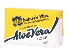 Nature's Plus, Aloe Vera Soap, Φυσικό Βιοδιασπώμενο Σαπούνι με Αλόη, 86 gr