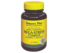 Nature's Plus Mega Stress Complex 30 tabs, Ισχυρή Φόρμουλα κατά του Άγχους & της Νευρικής Υπερδιέγερσης