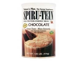 Nature's Plus, SpiruTein Chocolate,Υποκατάστατο Γεύματος Χαμηλών Θερμίδων με 41% Πρωτεΐνη, Δίνει Ενέργεια & Ζωτικότητα, Μειώνει την Όρεξη, Βοηθά στην Καύση των Λιπών με Τρόπο Φυσικό & Γρήγορο, με Γεύση Σοκολάτα  476 gr