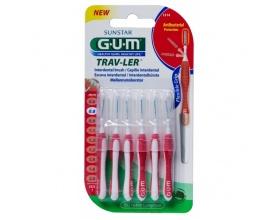 Gum 1314 Trav-ler Interdental Brush Μεσοδόντιο Βουρτσάκι 0,8mm 6 τεμάχια