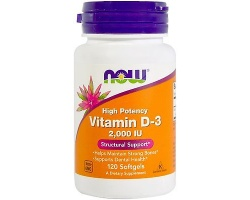 Now Foods  Vitamin D3 2.000 IU,  Η πιο Βιοδιαθέσιμη Μορφή Βιταμίνης D, για την Ενίσχυση του Ανοσοποιητικού, την Απορρόφηση του Ασβεστίου, 120 softgels