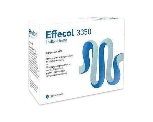 EPSILON HEALTH Effecol Συμπλήρωμα διατροφής Οσμωτικό υπακτικό για την αντιμετώπιση της περιστασιακής και χρόνιας δυσκοιλιότητας 12 φακελίσκοι