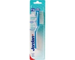 Jordan Denture Brush Οδοντόβουρτσα για Τεχνητές Οδοντοστοιχίες, χρώμα μπλέ 1 τεμάχιο
