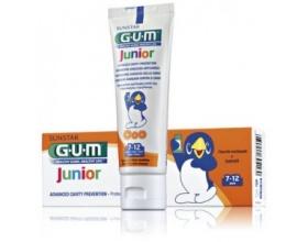 Gum 3004 Junior 7 - 12 ετών Παιδική Οδοντόκρεμα με γεύση Tutti - Frutti, για πρόληψη κατά της τερηδόνας & προστασία ενάντια στη διάβρωση από οξέα 50ml