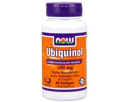 Now Foods Ubiquinol 100 mg, Antioxidant Form of Co-Q10, Ιδιαίτερα Βιοδιαθέσιμη & Δραστική Αντιοξειδωτική Μορφή του CoQ10 (Ουμπικινόλη), για την Παραγωγή Ενέργειας & την Καλή Καρδιαγγειακή Υγεία  60 softgels