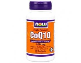 Now Foods Co Q10 400 mg, w/ Vitamin E + Lecithin, Συμπλήρωμα με Q 10, για Υγιείς Νευροδιαβιβαστικές Λειτουργίες & Καλή Λειτουργία του Καρδιαγγειακού & Ανοσοποιητικού Συστήματος 30 softgels