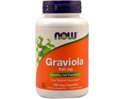 Now Foods Graviola, Συμπλήρωμα από το Φυτό Γραβιόλα, με Ισχυρές Καρδιοτονωτικές, Αντισπασμωδικές & Αγγειοδιασταλτικές Ιδιότητες 100 caps