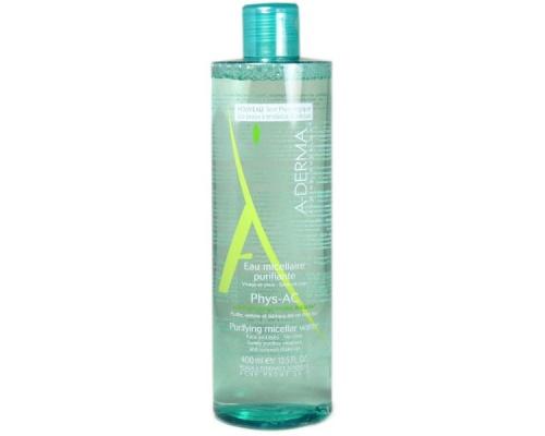 A-DERMA Phys-AC  Eau Micellaire Purifiant Νερό Καθαρισμού Για Λιπαρές & Με Τάση Ακμής Επιδερμίδες 400ml