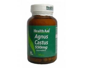 Health Aid AGNUS CASTUS 550mg,  Ισορροπεί τον γυναικείο κύκλο, αντιμετωπίζει τη δυσμηνόρροια και βοηθά στη περίοδο της εμμηνόπαυσης 60 ταμπλέτες