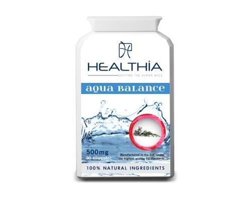 Healthia  Aqua Balance 500mg  εξαιρετικός συνδυασμός από 11 συμπυκνωμένα βότανα και μικροθρεπτικά συστατικά για την υποστήριξη των φυσιολογικών επιπέδων στα υγρά του σώματος 90caps