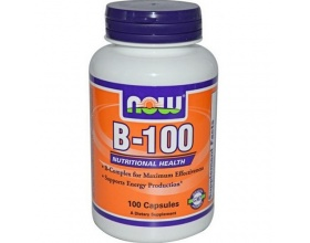 Now Foods B100 Complex, Σύμπλεγμα Βιταμινών B για Καλή Λειτουργία του Νευρικού, Ανοσοποιητικού & Κυκλοφορικού Συστήματος, Κατά του Στρες 100 caps