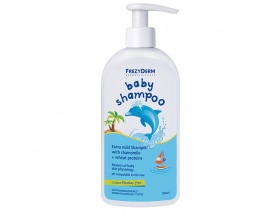 Frezyderm Baby Shampoo Απαλό Βρεφικό Σαμπουάν με Αντλία, καθαρίζει & περιποιείται Απαλά τα Μαλλάκια του Μωρού, ενώ Παράλληλα οι Πρωτεΐνες Σίτου που περιέχει ενισχύουν τη Δομή της Τρίχας, 200ml + 100ml ΔΩΡΟ