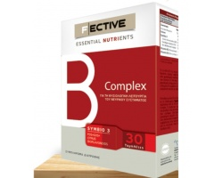 Ambitas F Ective Essential Nutrients B Complex Συμπλήρωμα διατροφής για την διαχείριση του άγχους και την νοητική επίδοση 30tabs