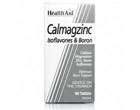 Health Aid CALMAGZINC,Ασβέστιο - Μαγνήσιο - Ψευδάργυρος & Βόριο με ισοφλαβόνες, Συνδυασμός μετάλλων για υγιή οστά  90 ταμπλέτες