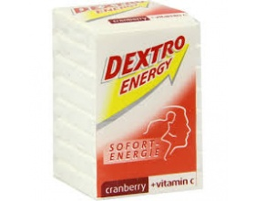 Parapharm Dextro - Energy Cranberry- vitC Ταμπλέτες γλυκόζης για γρήγορη αντιμετώπιση περιστατικών υπογλυκαιμίας 8 ταμπλέτες