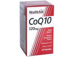 Health Aid CONERGY Q10 120mg, ΣΥΝΕΝΖΥΜΟ Q10,μοναδικές ευεργετικές ιδιότητες για την καρδιά και το ανοσοποιητικό σύστημα 30 κάψουλες