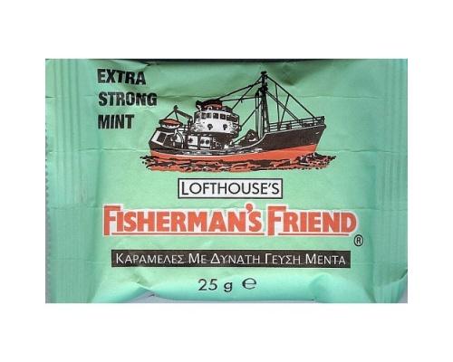FISHERMAN'S FRIEND Extra Strong Mint ΠΡΑΣΙΝΟ Μέντα 25g