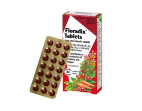 Power Health Floradix Tablets Τονωτικό Συμπλήρωμα Διατροφής για Γυναίκες με Οργανικό Σίδηρο, Βιταμίνες C & B Complex, 84 tabs