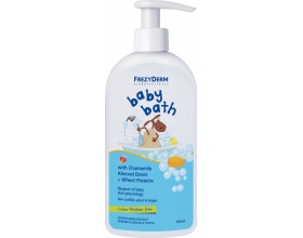 Frezyderm Baby Bath Απαλό Βρεφικό Αφρόλουτρο με Αντλία, Καθαρισμό χωρίς να προκαλεί Ερεθισμούς, σέβεται το pH, τη Φυσιολογική Δερματική Χλωρίδα & το Δερματικό Φραγμό του Βρέφους 200ml + 100ml ΔΩΡΟ