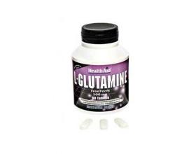 Health Aid L-Glutamine 500mg ,  Γλουταμίνη, Αμινοξύ χρήσιμο για νοητική εγρήγορση καθώς αποτελεί κύριο καύσιμο για τη λειτουργία του εγκεφάλου 60tabs