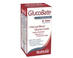 Health Aid GlucoBate 60 V.tabs, Συμπλήρωμα Διατροφής που συμβάλλει στη διατήρηση υγιών επιπέδων γλυκόζης στο αίμα