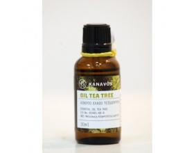 Kanavos Αιθέριο Έλαιο Τεϊόδεντρο, Αντιμυκητιασικό, αντισηπτικό, επουλωτικό, ενισχύει το ανοσοποιητικό, ιδανικό για ακνεϊκά δέρματα 30ml