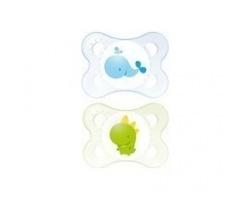 Mam, Original 101L, Πιπιλα Θηλή από Φυσικό Λάτεξ, 0-6 μηνών, χρώμα μπλέ-πράσινο, 2τμχ