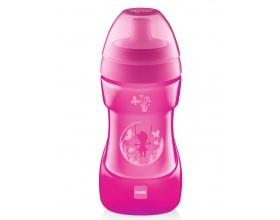 Mam ποτηράκι Sports cup, για μωρά 12+ μηνών,ποτηράκι εξόδου με κυρτό ανατομικό σχεδιασμό χρώματος ρόζ 330 ml