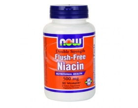 Now Foods Flush free Niacin 500 mg, Συμπλήρωμα Νιασίνης, για την Αύξηση της Ροής του Αίματος & της HDL Χοληστερόλης, Υγιές Νευρικό Σύστημα, με σύνθεση που δεν προκαλεί Εξανθήματα & Φαγούρα 90 vcaps