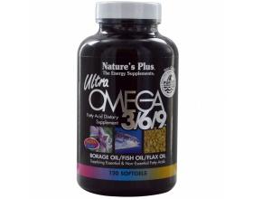 Nature's Plus Ultra Omega 3 6 9 1200 mg 90 softgels, Ωμέγα 3 6 9 Λιπαρά Οξέα, για τη Στήριξη του Καρδιαγγειακού Συστήματος, τον Περιορισμό των Τριγλυκερίδιων & τη Μείωση της Υπέρτασης