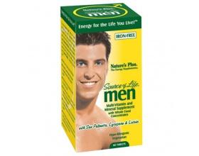 Nature's Plus Source of Life Men Συμπλήρωμα διατροφής για χρήση αποκλειστικά από άνδρες 60 ταμπλέτες