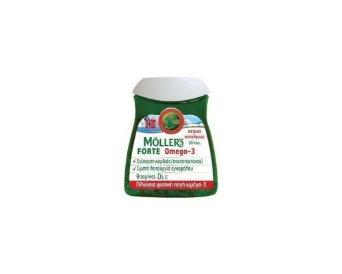 Nature's Plus, Moller's Forte, Μουρουνέλαιο Μίγμα Ιχθυελαίου & Μουρουνέλαιου Πλούσιο σε Ω3 Λιπαρά Οξέα, 60 caps