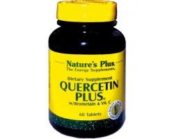 Nature's Plus, Quercetin Plus W / Vit C, Bromelain, με Αντιοξειδωτική Δράση, Αναστέλει την Παραγωγή της Ισταμίνης & Στηρίζει το Καρδιαγγειακό Σύστημα 60 tabs