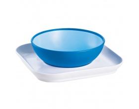 Mam Baby's bowl & plate Μπωλ με πιατάκι, για μωρά 6+ μηνών, 1τμχ χρώματος μπλέ