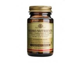 Solgar Neuro Nutrients,Προσφέρει ένα σύμπλεγμα αμινοξέων & άλλων διατροφικών στοιχείων, Εξαιρετικά χρήσιμο για την ενίσχυση των νοητικών λειτουργειών 30caps