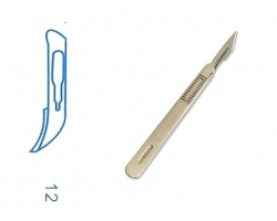SURGICAL TOOL LANCET AD WITH HANDLE (12) 1 piece