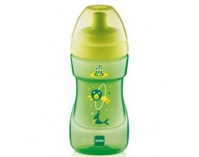 Mam ποτηράκι Sports cup, για μωρά 12+ μηνών,ποτηράκι εξόδου με κυρτό ανατομικό σχεδιασμό χρώματος πράσινο  330 ml