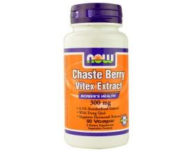 Now Foods Vitex 300 mg (Chaste Berry Extract),  Συμπλήρωμα από Λυγαριά για την Παραγωγή Προγεστερόνης, τη Ρύθμιση των Ορμονών & τον Περιορισμό των Συμπτωμάτων της Εμμηνόπαυσης 90 Vcaps