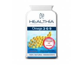 Healthia Omega 3 6 9 1000mg  Συμπλήρωμα Διατροφής με Ωμέγα 3.6.9 λιπαρά οξέα 90caps