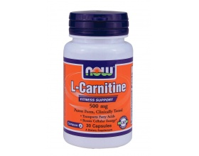 Now Foods L-Carnitine 500mg, Dietary Supplement helpful in cardiovascular health, weight control, the weakness against viruses and increase aerobic endurance, 30 caps