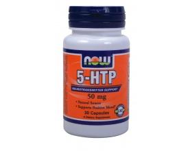 Now Foods 5-HTP 50 mg, Συμπλήρωμα Διατροφής ασφαλές και αποτελεσματικό στην υποστήριξη μιας υγιούς διάθεσης και εμφάνισης, 30 κάψουλες