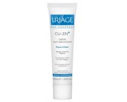 Uriage Cu-ZN+ Bariederm  Cream 40ml, Κρέμα κατα των ερεθισμών γύρω απο το στόμα και γύρω απο τη μύτη, πάνα