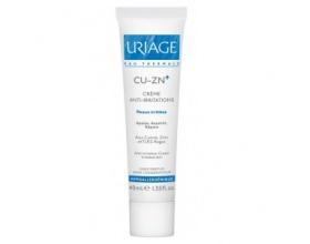 Uriage Cu-ZN+ Anti-Irritation Cream 40ml, Κρέμα κατα των ερεθισμών γύρω απο το στόμα και γύρω απο τη μύτη, πάνα