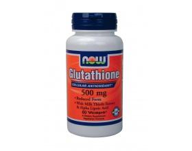 Now Foods Glutathione 500 mg, Συμπλήρωμα Διατροφής για την υγιή λειτουργία του ανοσοποιητικού συστήματος και  για διάφορες διαδικασίες αποτοξίνωσης του ήπατος, 60 κάψουλες