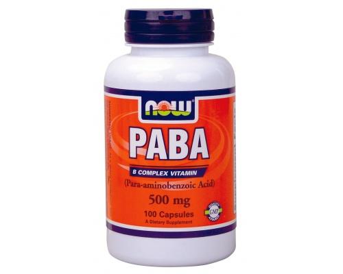 Now Foods Paba 500mg, Συμπλήρωμα Διατροφής ευεργετικό με πολλά οφέλη, 100 κάψουλες